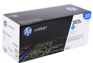 HP 307A Cyan Original LaserJet Toner Cartridge CE741A