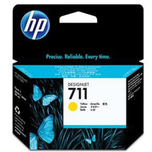 HP INK CARTRIDGE 711 29-ML CZ132A FOR T520 PLOTTER YELOW