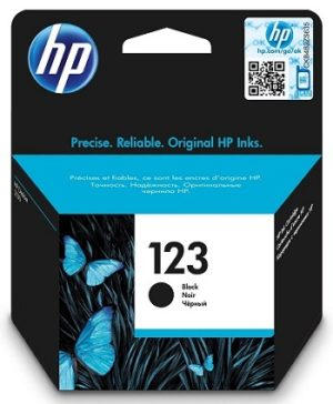 HP 123 Black Original Ink Cartridge F6V17AE