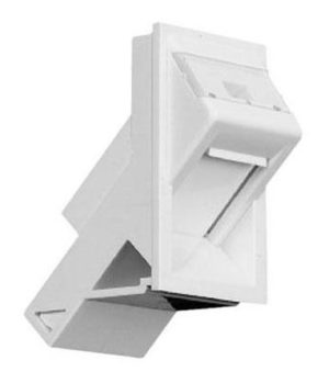 COMMSCOPE Unloaded, Angled LJ6C Snap-in Module, White 1859096-1