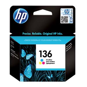 HP Ink 136 Tri-color Original Ink Cartridge (C9361HE)