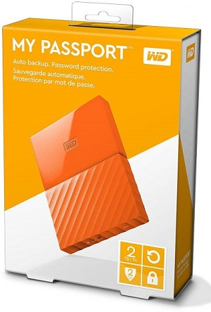 WD 2TB My Passport Portable External Hard Drive USB 3.0 - Orange