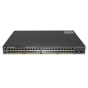 Cisco Catalyst 2960-x 48 GigE PoE 370w2 x10G SFP+ LAN Base SKU# WS-C2960X-48LPD-L