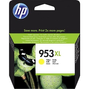 HP 953XL High Yield Yellow Original Ink Cartridge F6U18AE