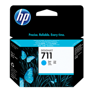 HP INK CARTRIDGE 711 29-ML CZ130A FOR T520 PLOTTER CYAN