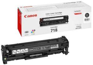 Canon 718 Black Original Laser Toner Cartridge