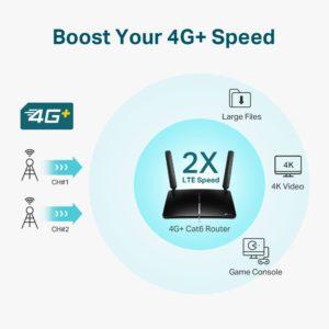 TP-Link 4G+ Cat6 AC1200 Wireless Dual Band Gigabit Router Archer MR600