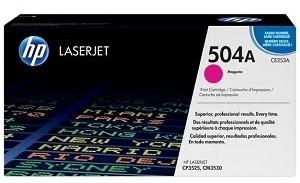 HP 504A Magenta Original LaserJet Toner Cartridge CE253A