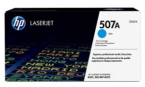 HP 507A Cyan Original LaserJet Toner Cartridge CE401A