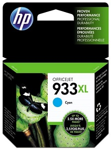 HP 933XL High Yield Cyan Original Ink Cartridge CN054AN