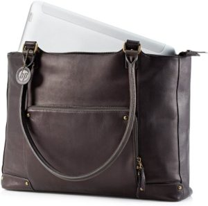 HP Brown Leather Tote - notebook carrying case