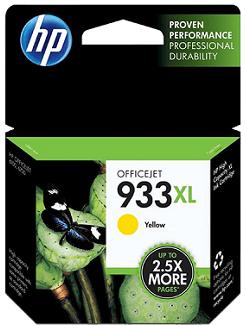 HP 933XL High Yield Yellow Original Ink Cartridge CN056AN