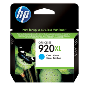 HP 920XL High Yield Cyan Original Ink Cartridge CD972AN