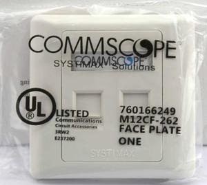 COMMSCOPE M12CF-262 Modular Faceplate, Two Port, Electrical White