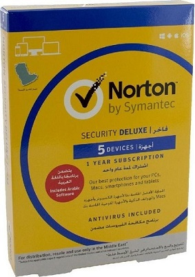 Symantec Norton Security Deluxe – 5 Devices – 1 Year