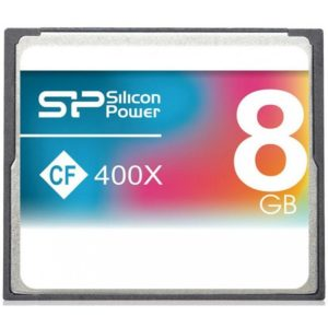Silicon Power 8GB Hi Speed 400x Compact Flash Card SP008GBCFC400V10