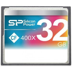Silicon Power 32GB Hi Speed 400x Compact Flash Card SP032GBCFC400V10