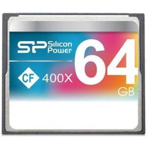 Silicon Power 64GB Hi Speed 400x Compact Flash Card SP064GBCFC400V10