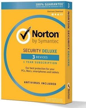 Symantec Norton Security Deluxe – 3 Devices – 1 Year