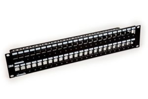 3M Volition Series Cat6 48 Port RJ45 Keystone Patch Panel