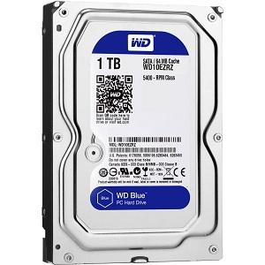 WD 1TB Desktop Hard Disk Drive Blue 5400 RPM SATA 6 GB/S 64MB WD10EZRZ
