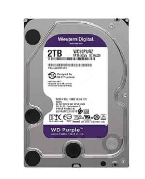 WD 2TB Surveillance Hard Disk Drive Purpel 5400 RPM SATA 6 GB/S 64MB WD20PURZ