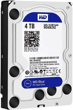 WD 4TB Desktop Hard Disk Drive Blue 5400 RPM SATA 6 GB/S 64MB WD40EZRZ