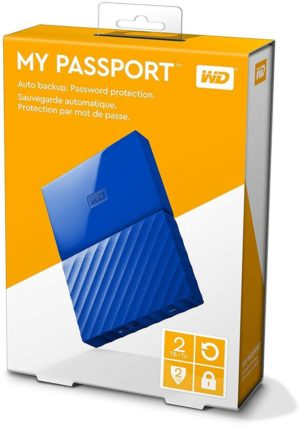 WD 2TB My Passport Portable External Hard Drive USB 3.0 - Blue