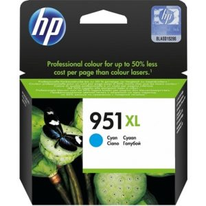 HP 951XL High Yield Cyan Original Ink Cartridge CN046AN