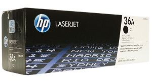 HP 36A Black Original LaserJet Toner Cartridge CB436A