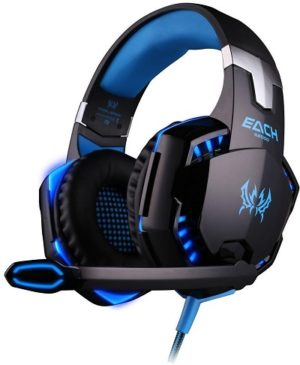 KOTION EACH G2000 Headband Game Headset Headphone Black + Blue
