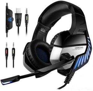 ONIKUMA K5Pro Stereo Gaming Headsets Headphones with Mic for PS4,Xbox One, PC, Mac, Laptop,