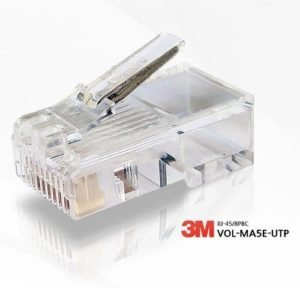 3M Volition CAT.5e RJ45 LAN Ethernet Gold Plated Modular Plug Network Connector 8P/8C